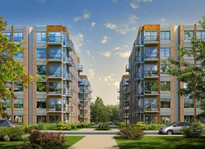 Proposed six-story apartment buildings